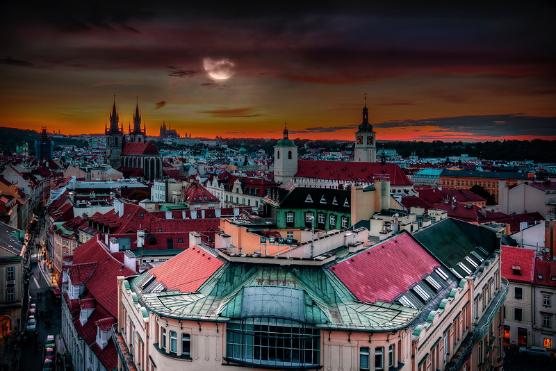 Moon Over Prague