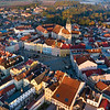 Jindrichuv Hradec Town Square Aerial View