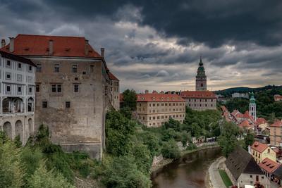 Storm Clouds Over Cesky Krumlov Castle