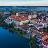 Telc Castle Aerial View