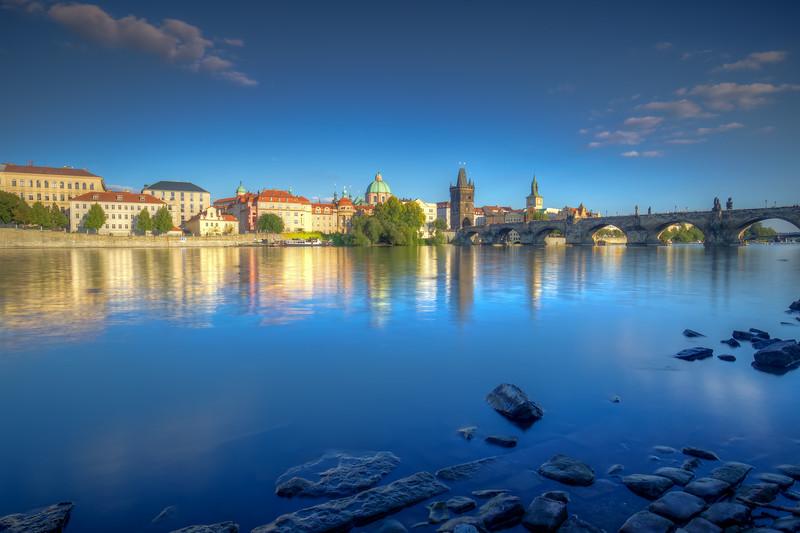 Charles Bridge Reflection, Prague