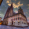 Dawn, Saint Vitus Cathedral And Prague Castle