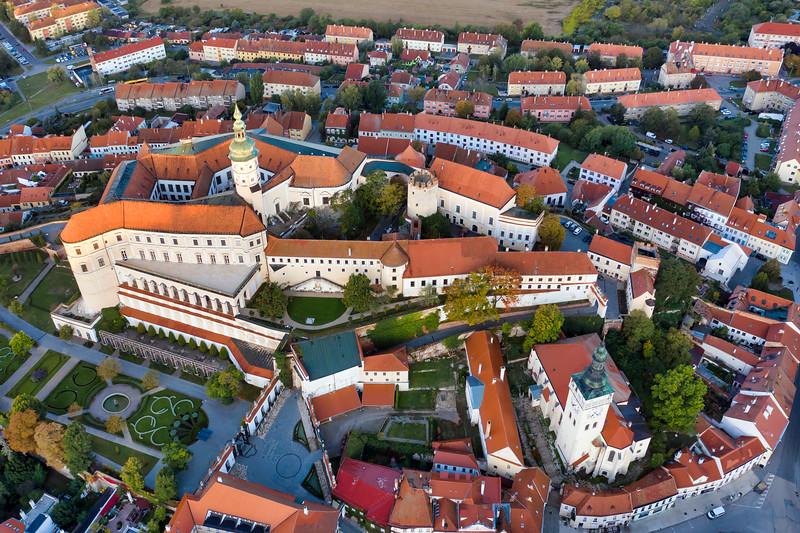 Mikulov Castle Top Down View, Czech Republic