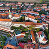 Mikulov Castle Top Down View, Czech Republic