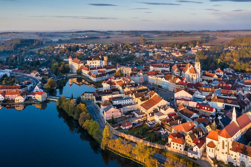Jindrichuv Hradec Aerial Sunrise