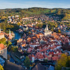 Late Afternoon Cesky Krumlov Aerial View