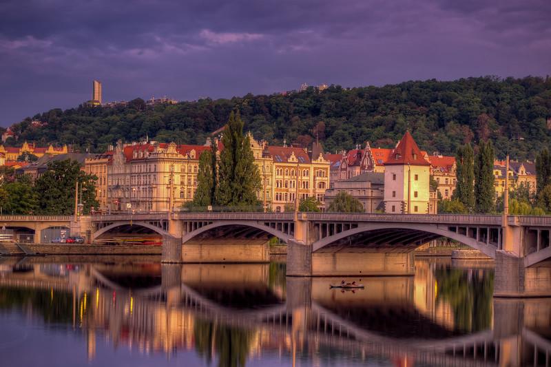 Boaters On The Vltava River In Prague