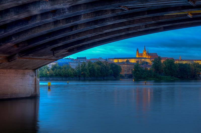 Prague Castle From Under Legions Bridge