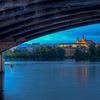 Prague Castle From Under Legions Bridge