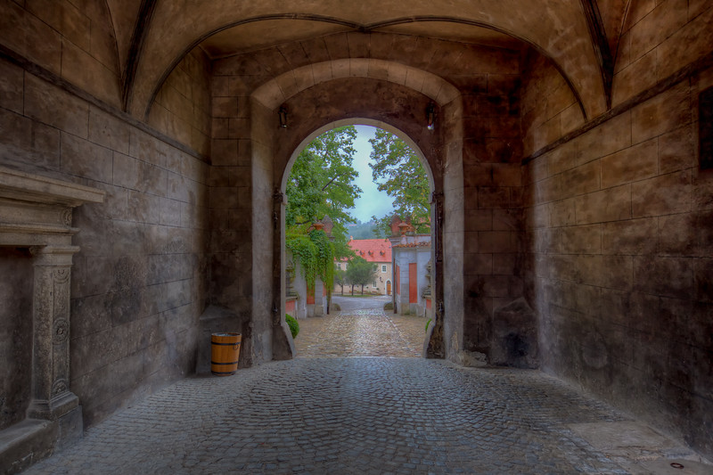 Walkway Under Cesky Krumlov Castle