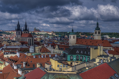 Old Town Prague From Powder Tower