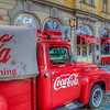 Coca Cola Truck In Front Of James Dean Restaurant, Prague