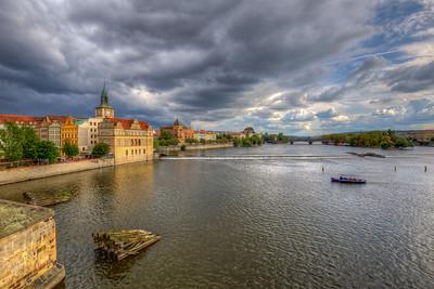 Bank Of Vltava River, Prague