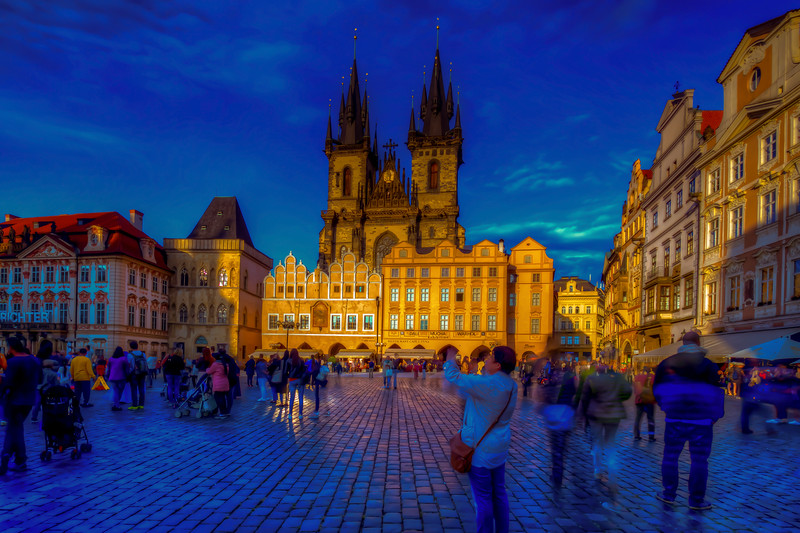 Church Of Our Lady Before Tyn, Long Exposure, Prague