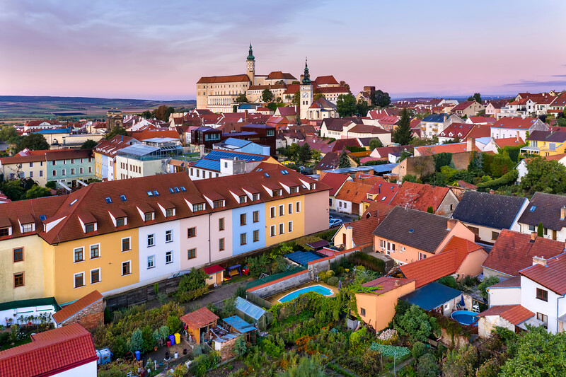 Mikulov Castle in Mikulov, South Moravia, Czech Republic