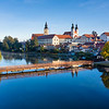Telc Castle Bridge Sunrise