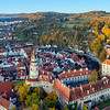 Cesky Krumlov Sunrise Aerial View