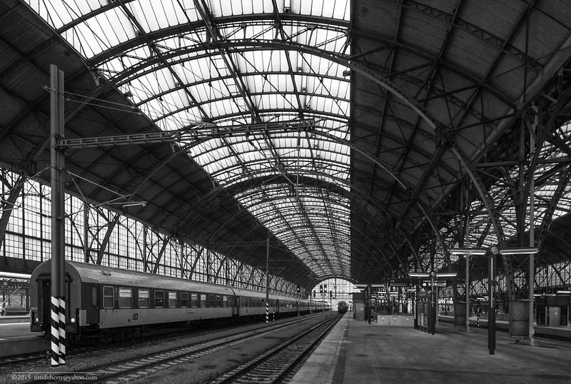 The train shed of Praha Hlavní Nádraží