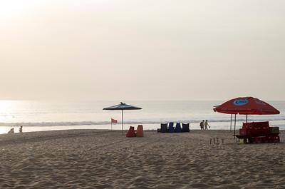 Kuta - západ slunce na pláži