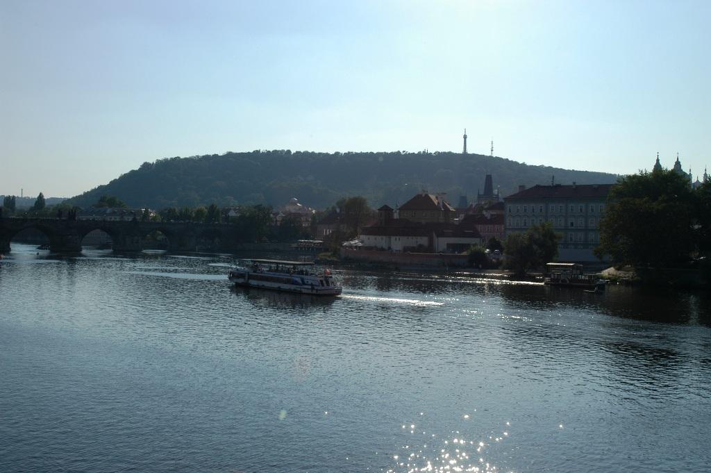 The historical Charles Bridge on Vltava River, Prague.