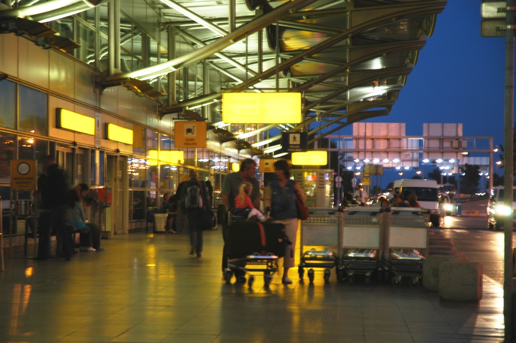 Entrance to departure lounge.