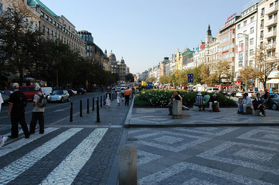 An other view of St. Wenceslas Square (Prague).
