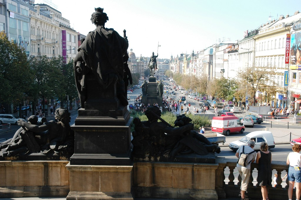 An other view of St. Wenceslas Square form the Museum side (Prague).