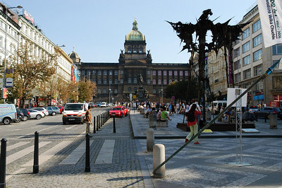 St. Wenceslas Square and the Museum (Prague).
