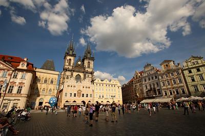 Church of Our Lady Before Týn, Chrám Matky Boží Před Týnem, Old Town Square, Staroměstské Náměstí, Prague, Czech Republic