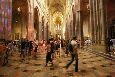 St. Vitus Cathedral, Katedrála sv. Víta, Prague Castle. Pražský hrad, Prague, Czech Republic