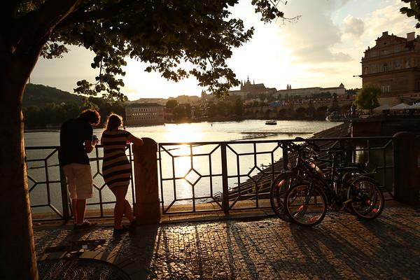 Charles Bridge, Karlův most, Vltava River, Prague, Czech Republic