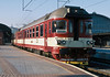 Rebuilt diesel multiple unit CD 854-032 waits to leave Praha Hlavni on 22 September 2005