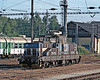 Yard shunter 210-039 waits for its next job at Jihlava on 22 September 2005