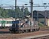 Yard shunter 210-039 waits for its next job at Jihlava on 22 September 2005