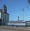 Dual voltage CD 363-175 is stabled alongside the main station buildings at Praha Hlavni on 22 September 2005