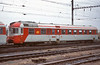 Wearing a different livery and with a different end treatment in the arrangement of windows and air intakes to the rest of the class CD 850-001 runs through Brno Hlavni Nadrazi on 6 November 2006