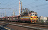 CD 230-073 leaves Breclav with a string of empty car carriers heading for Slovakia on 7 November 2006