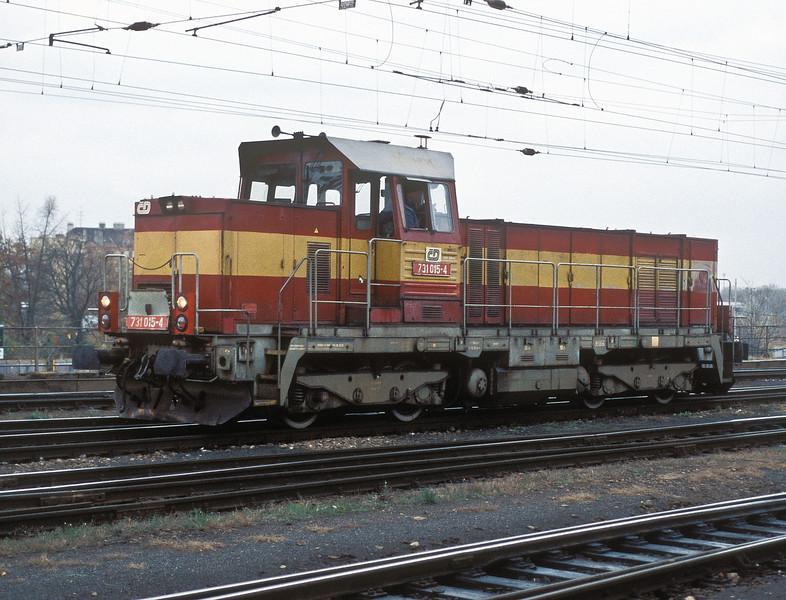 CD 731-015 runs through Brno Hlavni Nadrazi on 6 November 2006