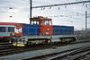 CD 714-210 bustles through Brno Hlavni Nadrazi on 6 November 2006