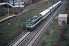 CD 362-112 comes off the Ceska Trebova lines at Brno Malomerice with a southbound express on 6 November 2006