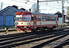 CD 809-080 runs onto the depot at Kralupy nad Vitavou on 22 October 2010