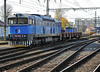 CD Cargo 753-772 returns to Kralupy nad Vitavou yard with its very short train on 22 October 2010