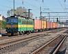 CD Cargo 163-007 heads north through Kralupy nad Vitavou on 22 October 2010