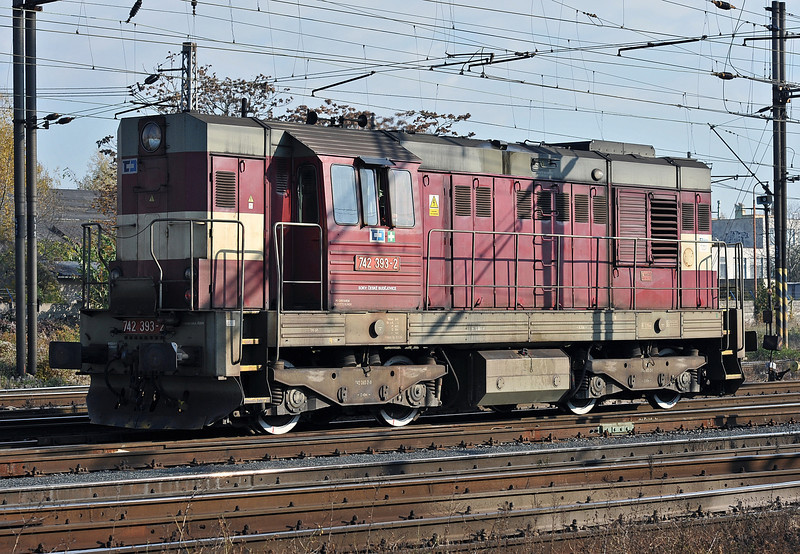 CD Cargo 742-393 at Nymburk on 23 October 2010