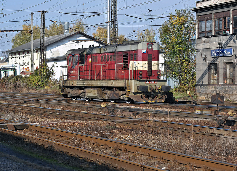 CD Cargo 742-393 at Nymburk on 23 October 2010