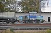 Unipetrol 771-501 hauls a short tank train at Kolin on 23 October 2010
