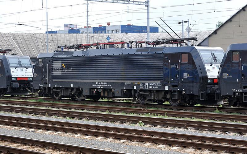 Three Dispolok locos were present at Breclav. This shot shows ES64 F4-153