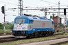 The latest in Czech electric traction, CD 380-014 runs around its train at Brno Hlavni Nadrazi on 28 July 2011