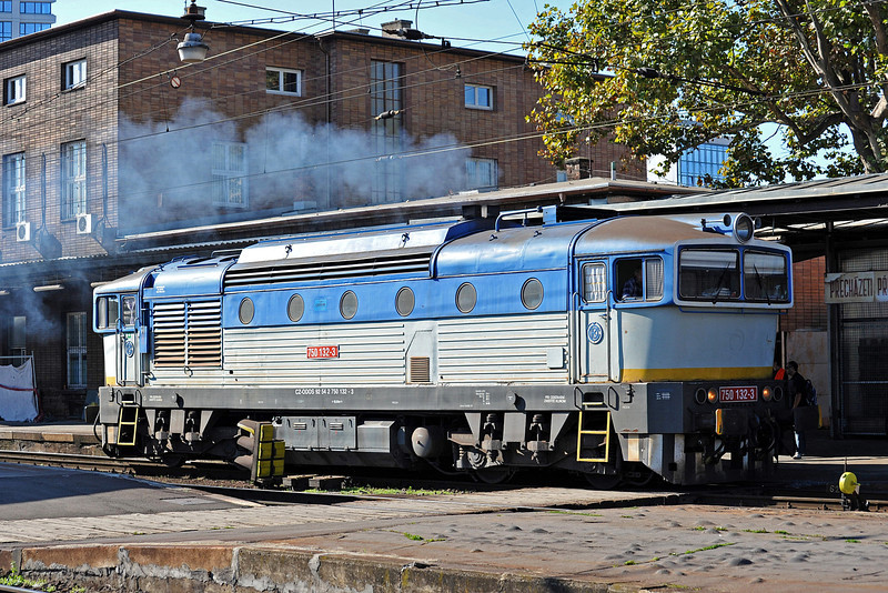 Former Slovak loco (the marking can still just be seen on the nose) ODOS 750-132 came in with an engineers' train