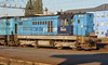 One of the local depot's many reliveried small diesels, CD Cargo 742-174 passes its home at Ostrava on 30 September 2011